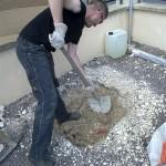 creusement trou scellement